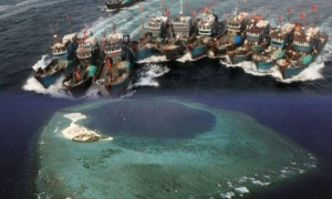Đội tàu Trung Quốc bắt đầu đánh bắt hải sản trái phép vào hôm 13/5...