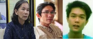 Bà mẹ Nguyễn Thị Kim Liên và hai con trai: Đinh Nhật Uy và Đinh Nguyên Kha