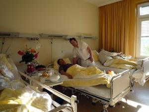 Đợt Gocmay phải nằm viện mổ ruột thừa (5/2011).